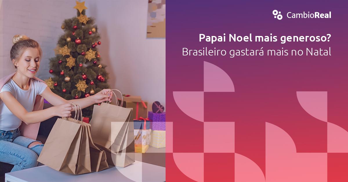 Papai Noel mais generoso? Brasileiro deverá gastar mais esse ano